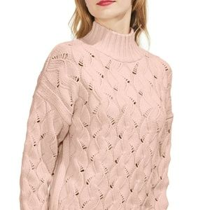Vince Camuto Sweater Pullover Cable knit Sz XL